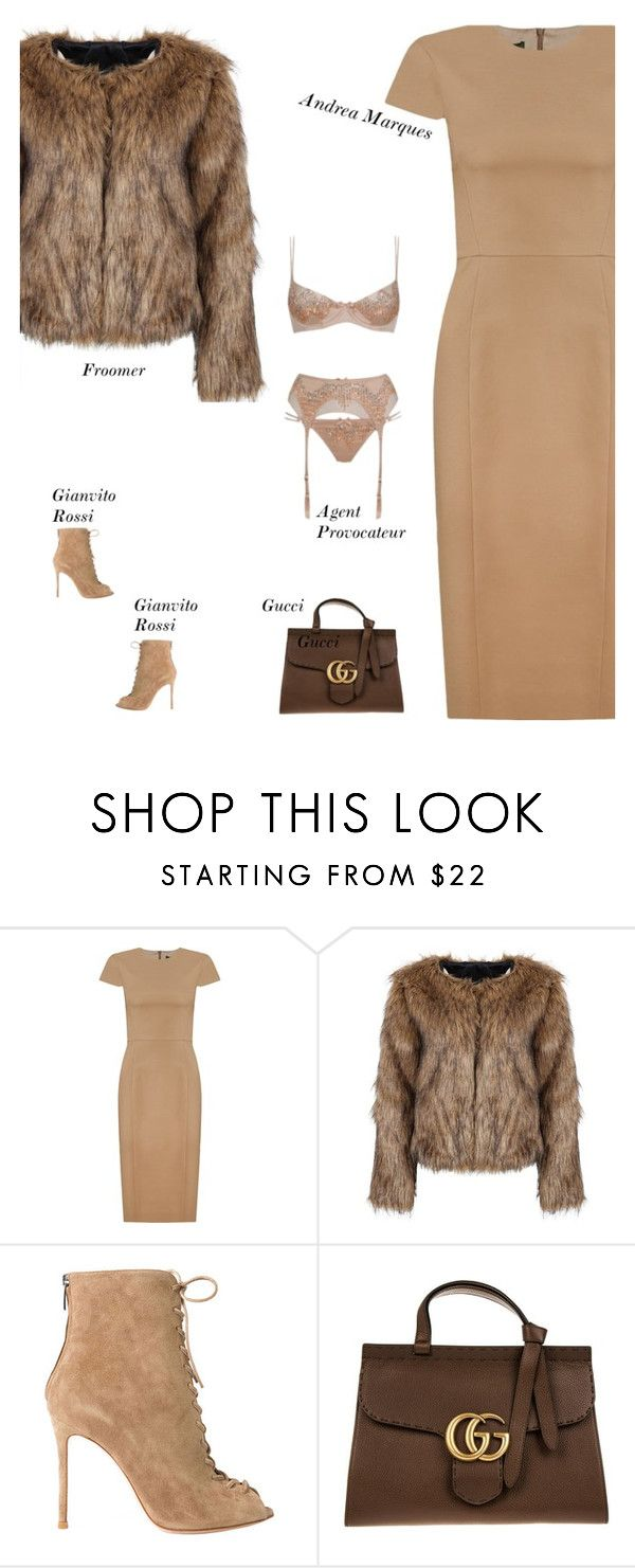"""""""Sexy Modest Winter Date Outfit"""" by s-thinks ❤ liked on Polyvore featuring Andrea Marques, Gianvito Rossi, Gucci and Agent Provocateur"""