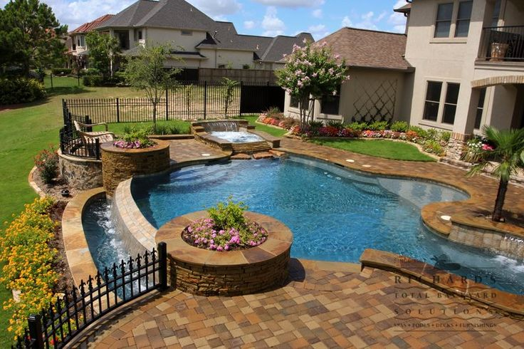 87 best images about dream backyard on pinterest for Pool design for sloped yard