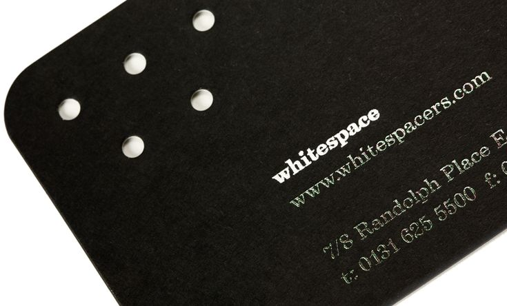 White Space business cards