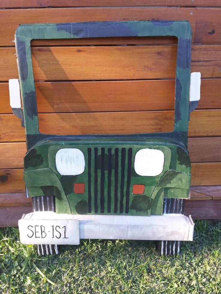 Jeep photo prop Jungle party