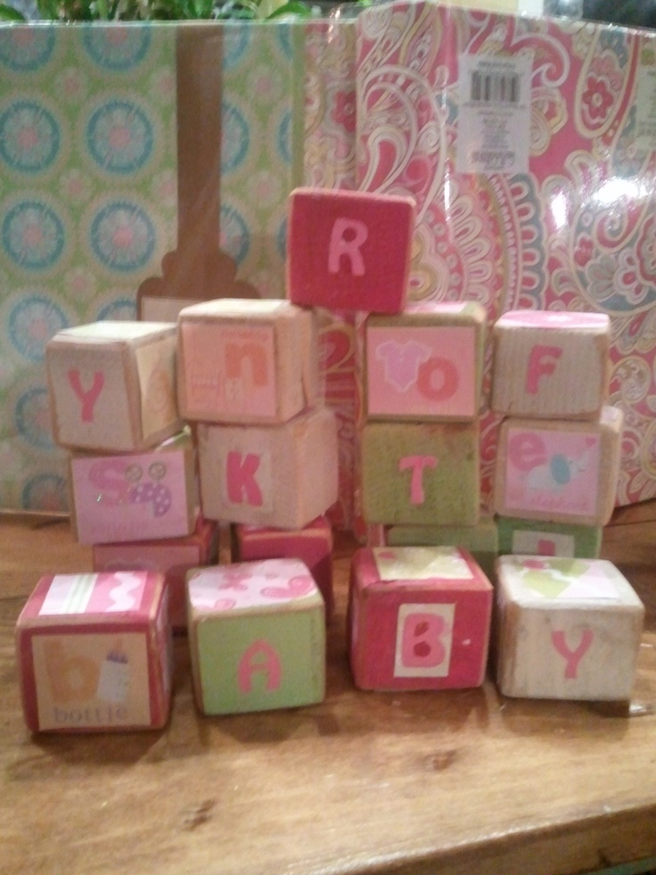 DIY baby blocks, I want to make these for Ava