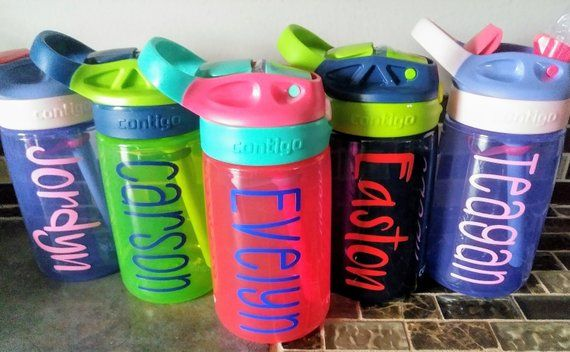 04ad615906 Custom Kids Contigo Water Bottle, Personalized, Toddler, Valentines Day,  Tumbler, Daycare, Sports, Basket Stuffer, Birthday Gift, Easter | Products  | Kids ...