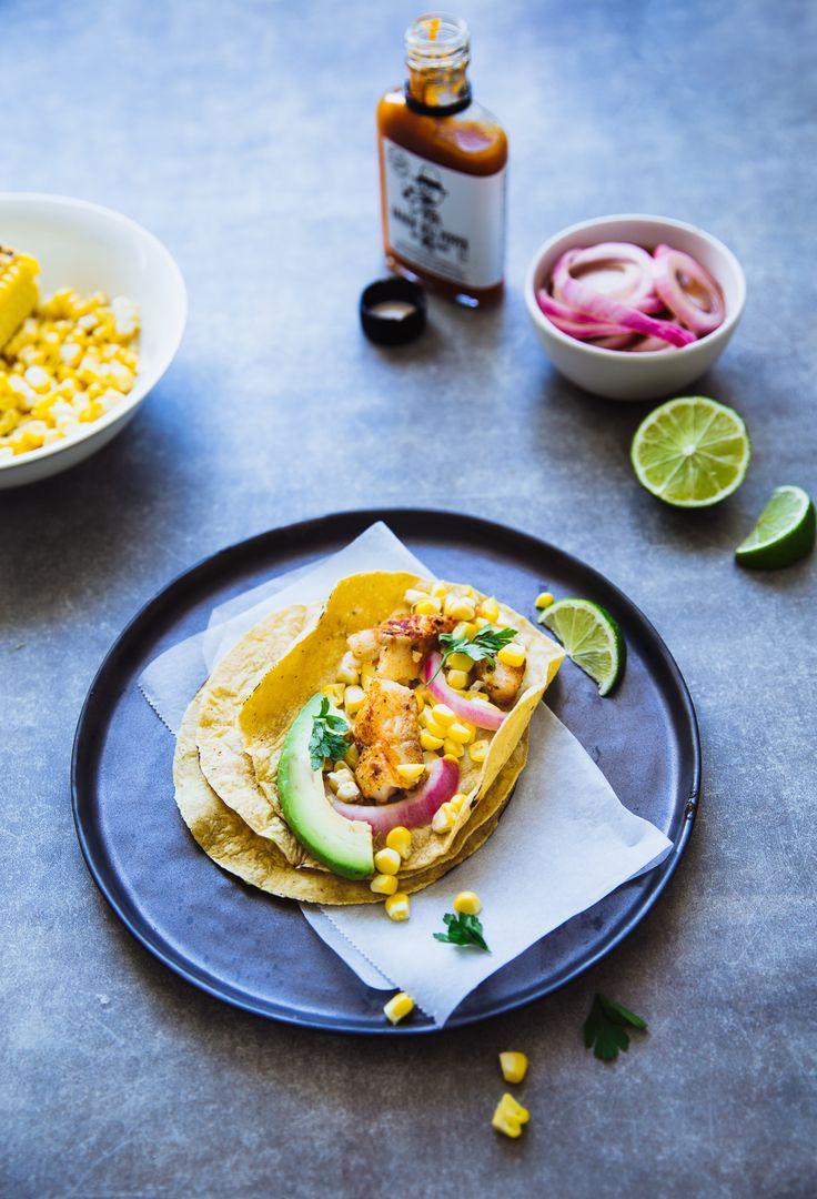 Vistaco's met gegrilde maïs en avocado