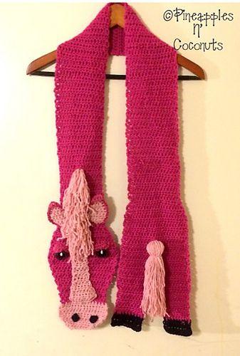 Ravelry: Horsin' Around scarf pattern by JoAnne Grimm Thompson