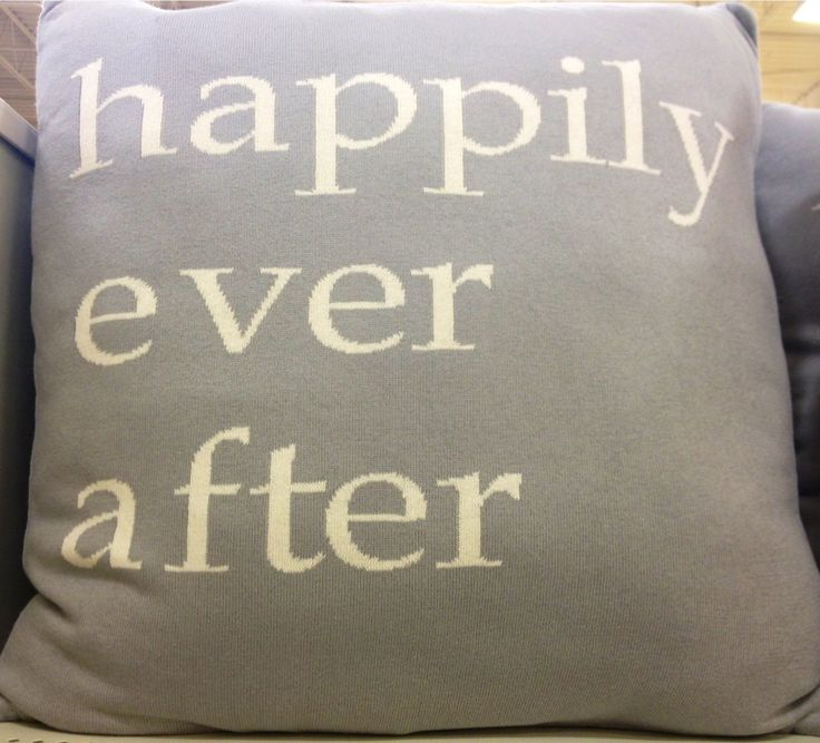 Throw Pillows Homesense : Live Happily Ever After! Throw pillow from HomeSense. Off To College Pinterest Ever after ...