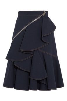 Givenchy Indigo skirt with zip details  | NET-A-PORTER