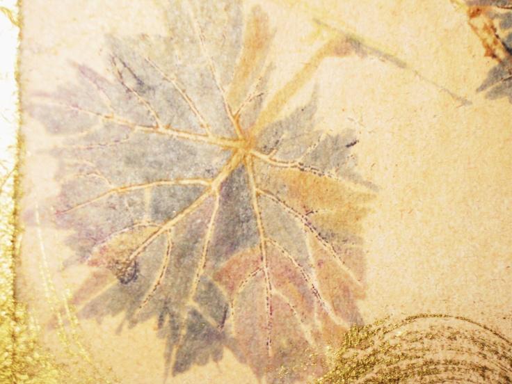 Art made using wine by Maurizia Gentili