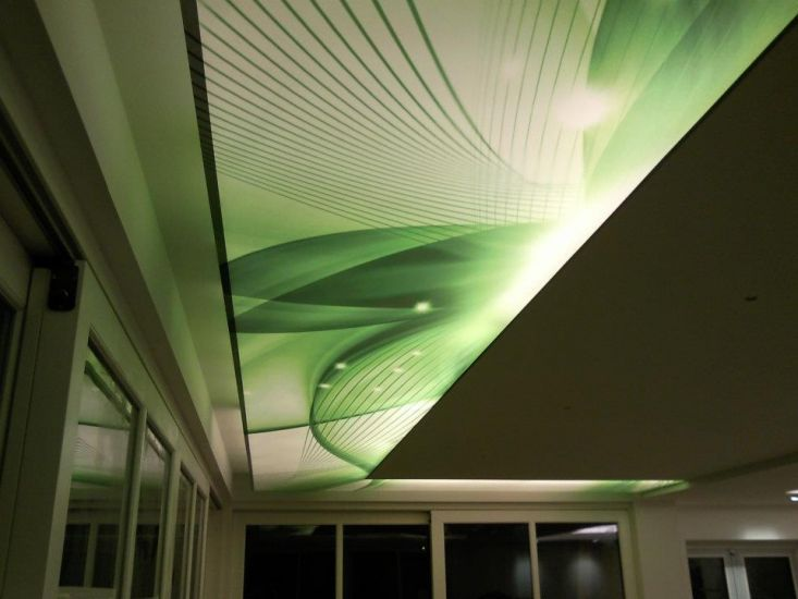 Vecta Design stretch ceilings are available in wide range of colours and textures. Textures are glossy, matt, satin, transparent and metallic. All textures are suitable for image printing at our factory. Your retailer in Finland is: www.cioy.fi #ledlights #strechceiling #valokatto
