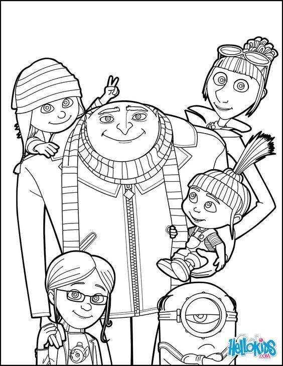 minions family coloring pages - photo#18