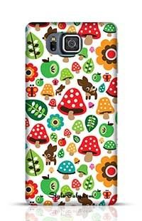 Musroom Autumn Deer And Apple Pattern Samsung Galaxy Alpha G850 Phone Case