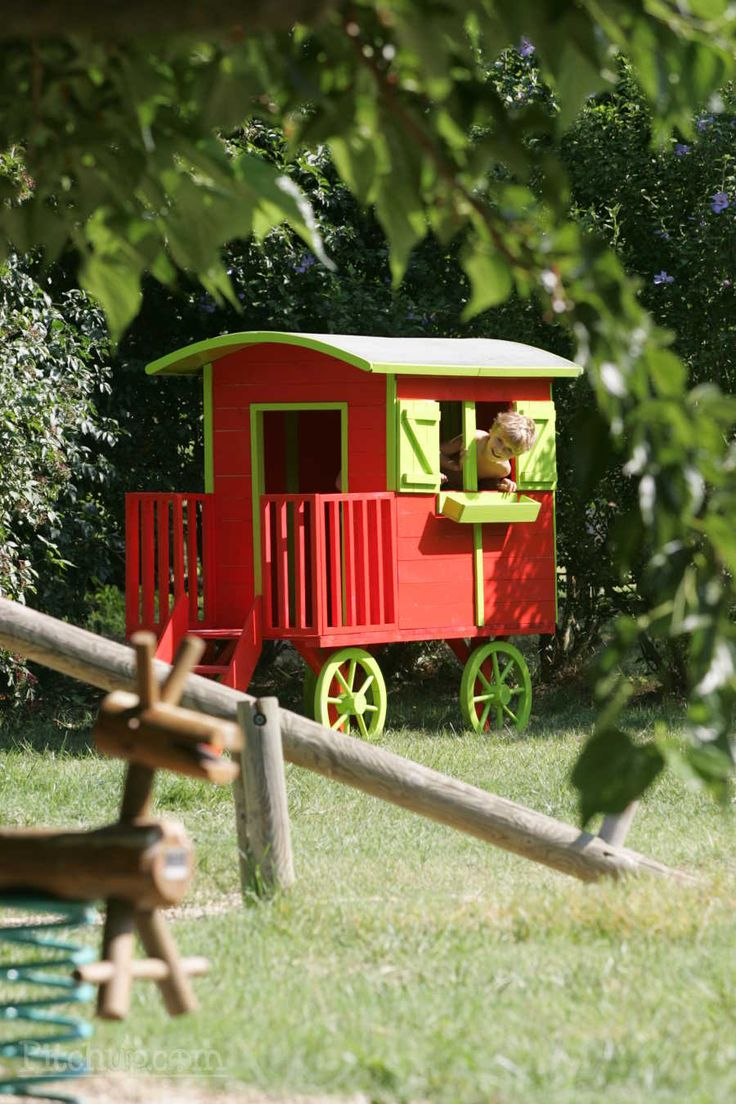 A mini gypsy caravan for mini gypsies. Camping du Domaine d'Anglas, Brissac, Hérault - Pitchup.com