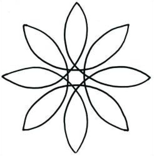 Free Hand Quilting Templates   quilt pattern stencil pinwheel 5 inch continuous stencil to quilt on ...
