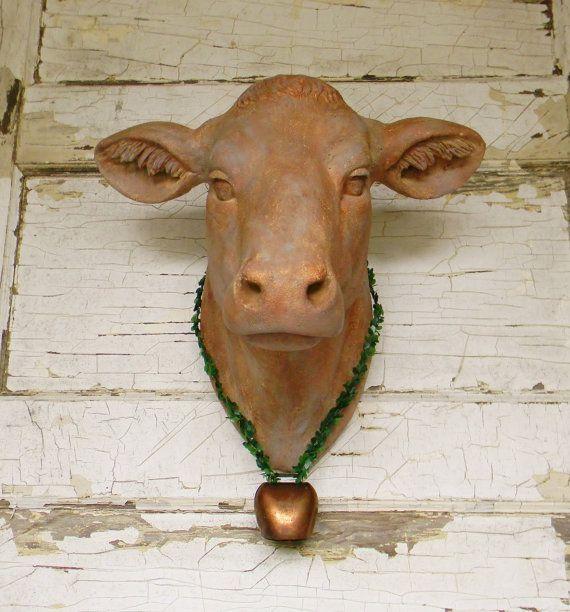 Faux Cow Head,Faux Taxidermy,Animal Head,Faux Cow Head ...