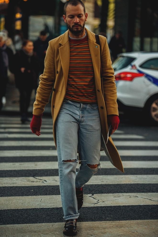 Street style Fashion Week homme automne hiver 2018 2019