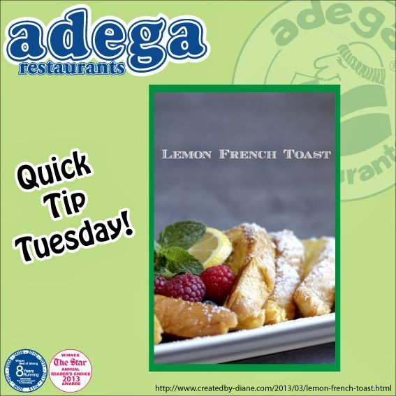Quick Tip Tuesday - Lemon French Toast