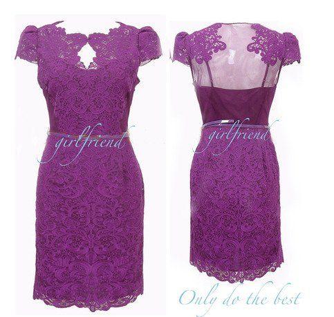 Ageless #fashion - #handmade #sweetheart #princess #lace slim #party #dress #women