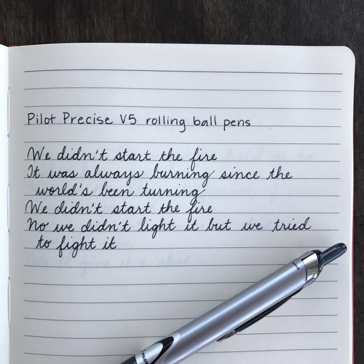 This is a solid pen that's easy to find in stores, which is important. My friend who recommended this pen to me said it's particularly good for lefties.
