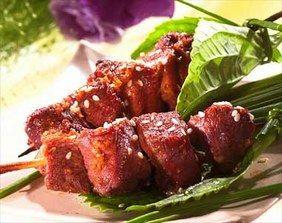 Brochettes de canard au sésame - Cuisine au barbecue