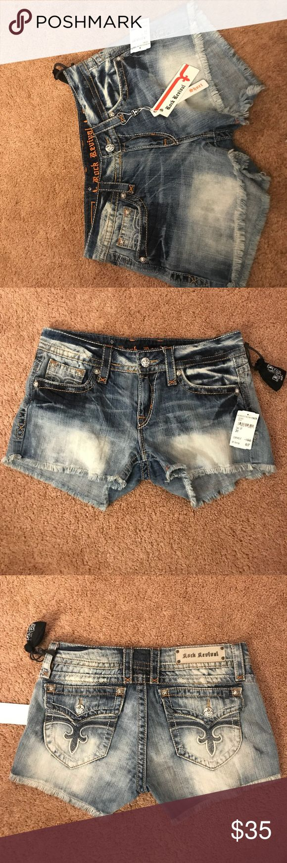 Brand new rock revivals shorts Brand new with tags attached just never wore size 31 womens Rock Revival Shorts Jean Shorts