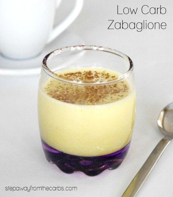 Low Carb Zabaglione - a version of the classic Italian dessert