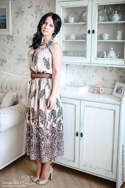 Платья ручной работы. Заказать Платье с рисунком Пейсли. творческая мастерская   maidenBAZAR. Ярмарка Мастеров. Летнее…