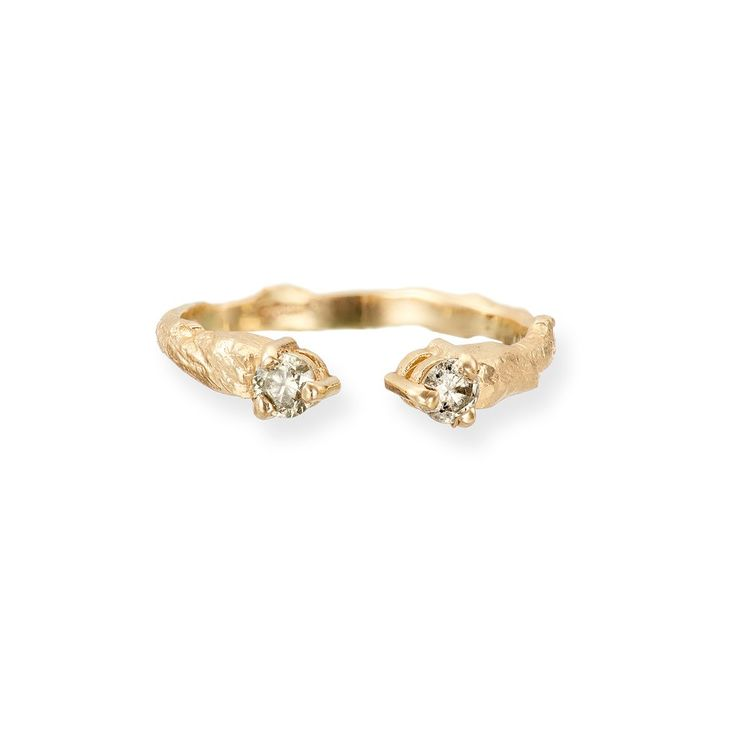 Solid Gold Hope And Magic Ring Grey Diamond