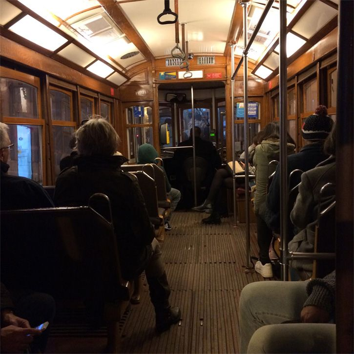 Here you can see the inside of tram 28!