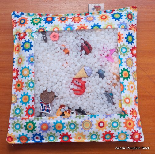 """I Spy - Discovery Bags - These little bags full of """"treasures"""" are amazing, great way to keep the little people entertained"""
