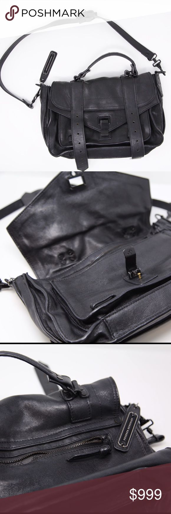 Proenza ps1 bag black hardware Very used black leather with black hardware Proenza ps1 bag. This bag is used. For sale on my depop for $250 username: thebeststuff Proenza Schouler Bags Crossbody Bags