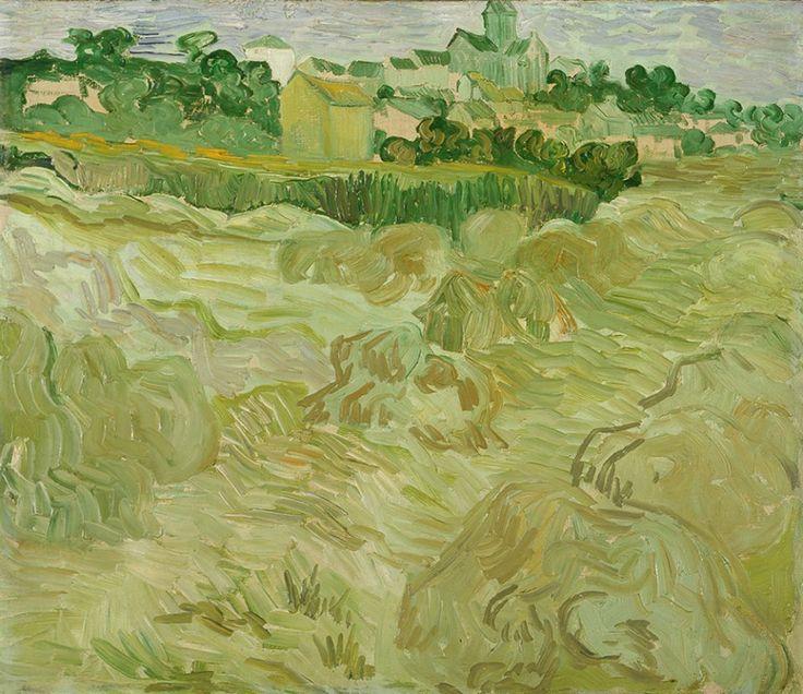 Van Gogh, Wheat Fields with Auvers in the Background, July 1890. Oil on canvas, 44 × 51.5 cm. Musées d'art et d'histoire de Genève, Switzerland.