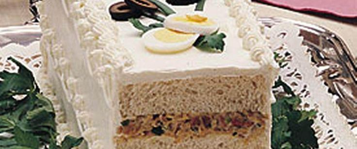 This sandwich loaf will be the talk of the party.  Lots can be said about the delicious shrimp, olive and ham fillings!