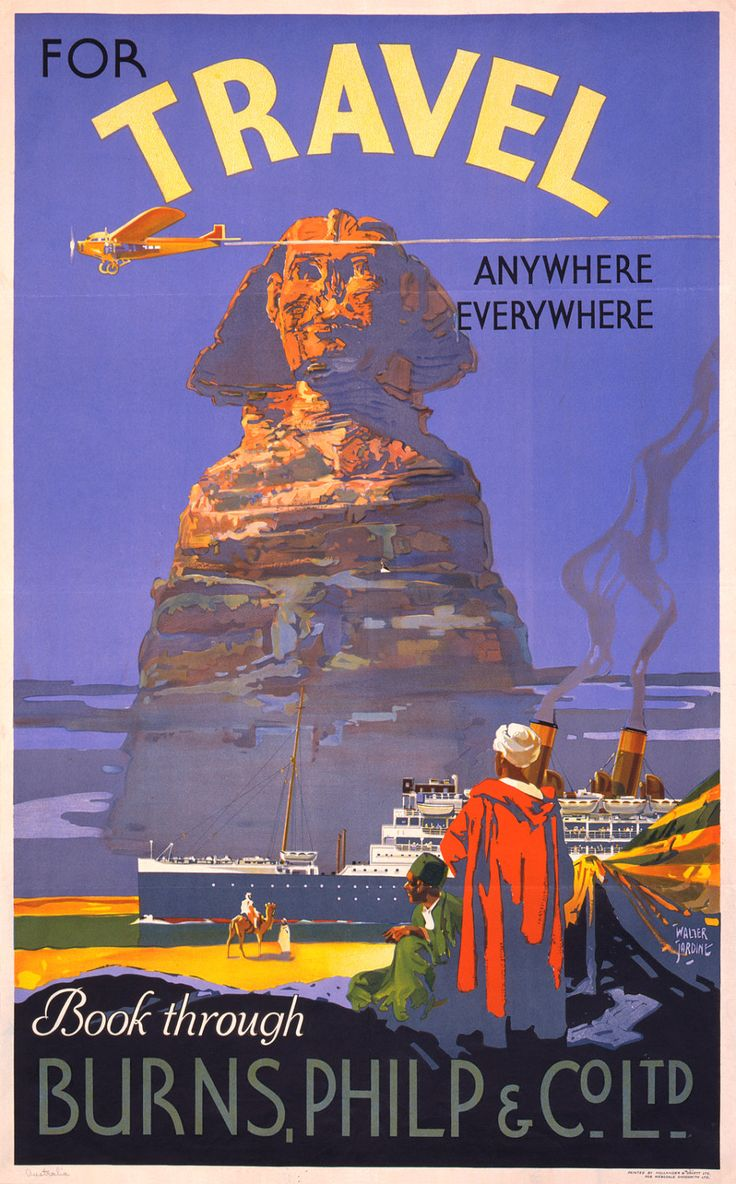 Vintage Travel Poster Egyptian Sphynx 8x13 PopMount Ready to Hang FREE SHIPPING. $35.00, via Etsy.