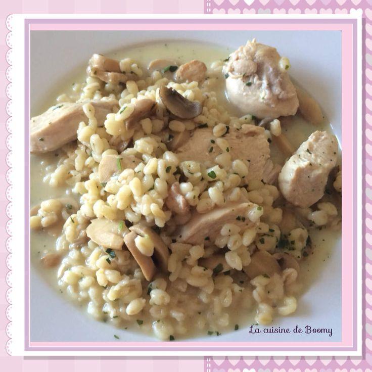 Blesotto aux champignons et au poulet WW ( Cookeo ) - La cuisine de Boomy