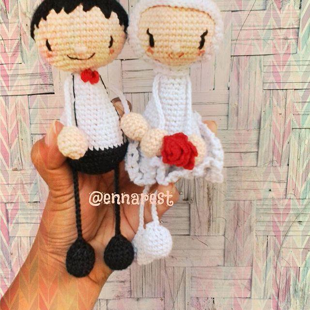 #amigurumi #crochetdoll #bonekarajut #crochet #handmade #rajut #prewedding #photoshoot #hijab