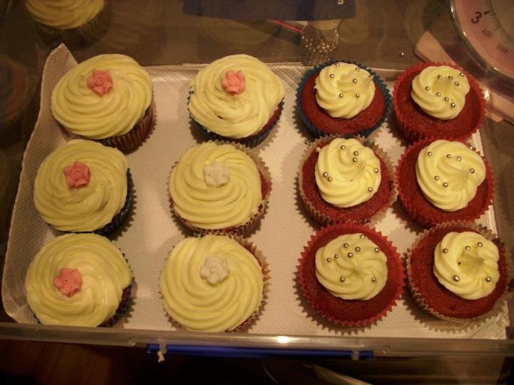 My First Ever Order As A Business. 12 Red Velvet Cupcakes.