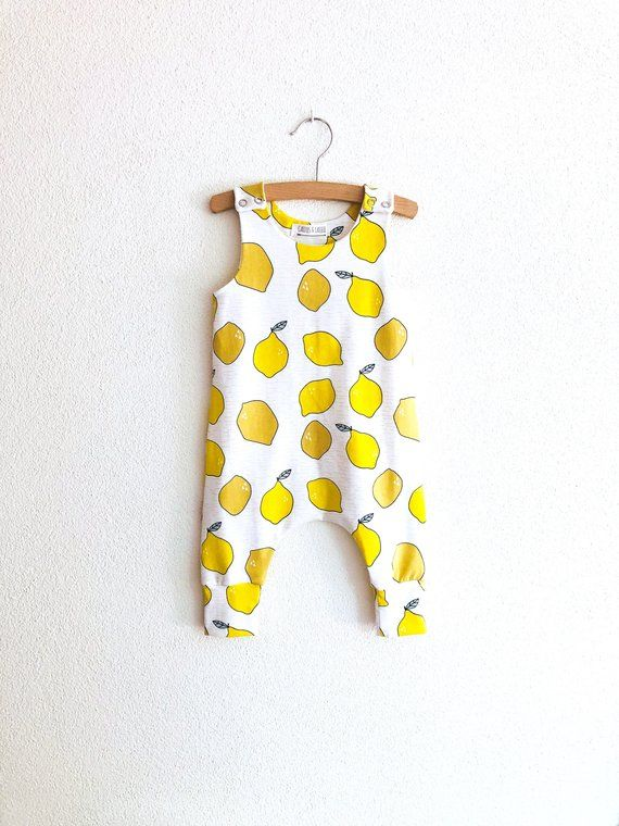 8a666c999 Toddler romper with lemons, organic baby romper, lemon baby clothes, boho  baby romper, baby coverall with lemons, baby girl romper, lemons