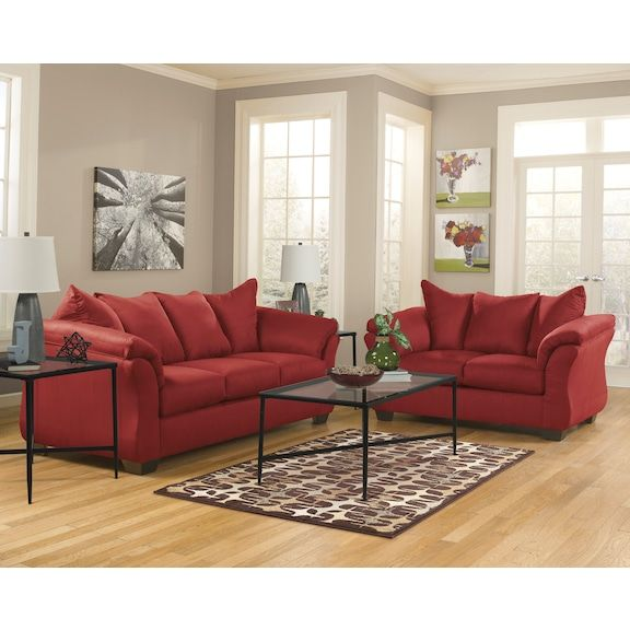 The Beauty Of The Archer Sofa Is Made To Suit Your Appreciation For Clean Contemporary Style A Red Couch Living Room Living Room Red Brown Living Room Decor