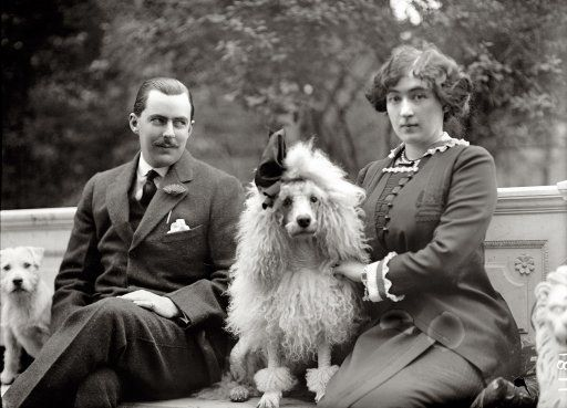 """Washington, 1912. """"Edward Beale McLean with Mrs. McLean."""" Edward (Ned) would become publisher of the Washington Post; his wife, the mining heiress Evalyn Walsh McLean, was the last private owner of the Hope Diamond."""