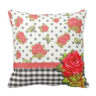 Black And White Gingham Pillows, Black And White Gingham Throw Pillows BRU/MOOD: Riviera ...