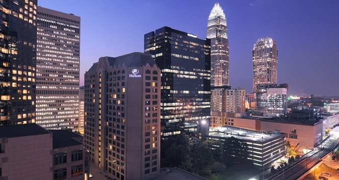 Hilton Charlotte Center City Hotel, Charlotte, Nc - Hotel Exterior City View