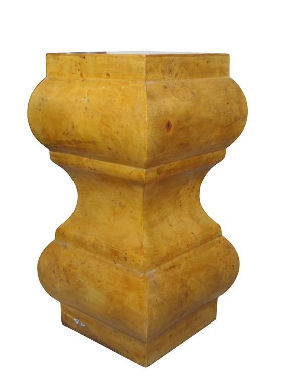 modern italian burl wood pedestal or table base - Pedestal Table Base
