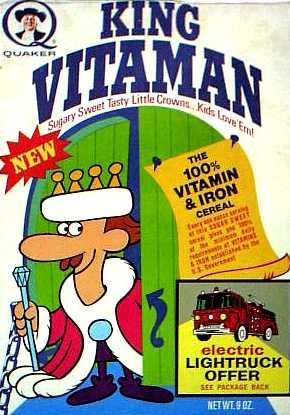 King Vitamin cereal  c. 1971 //  Have Breakfast with the King!