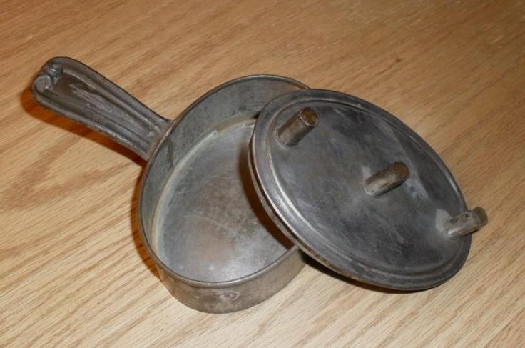 primitive attic fines | Tin & Iron Chafing Dish - c. 1860-70 - Victorian Era from ohiosattic ...