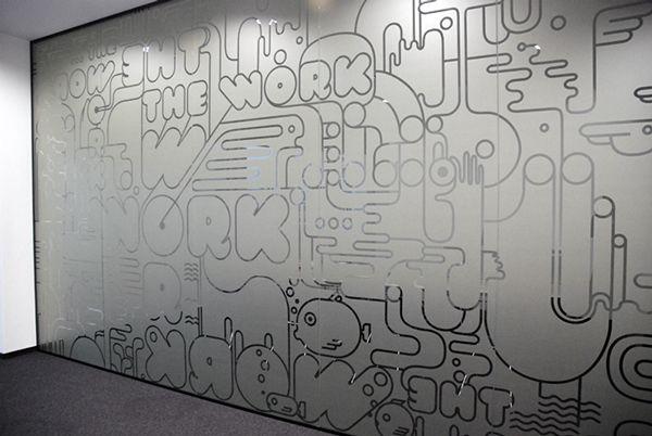 Graffiti BBDO office stickers on Behance