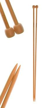 US Size 15 10mm 16 Single Point Bamboo Knitting Needles by 3colon7