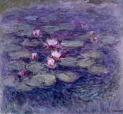 Monet - purple waterlilies