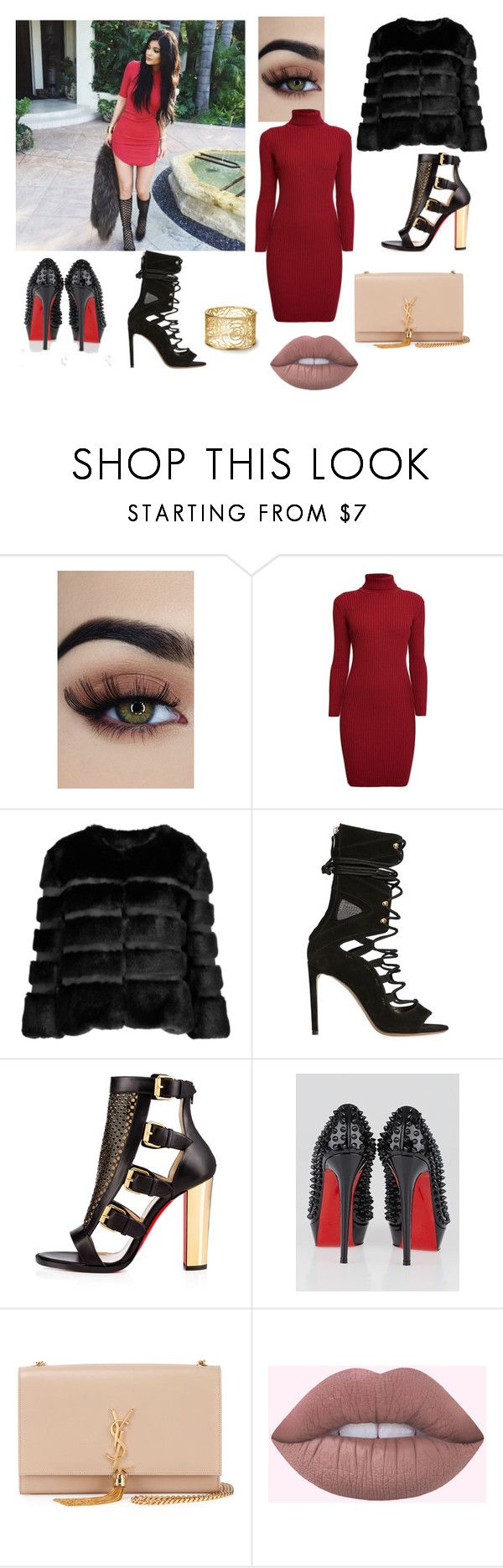 """kylie"" by juliesvankjaer on Polyvore featuring Jimmy Choo, Rumour London, AINEA, Alexandre Vauthier, Christian Louboutin and Yves Saint Laurent"