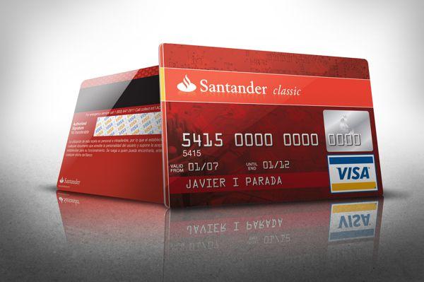 Banco Santander - Tarjetas de Crédito Visa on Behance