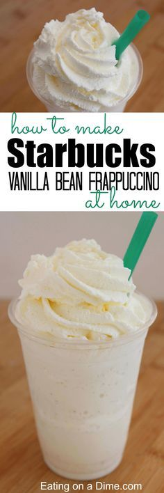 how to make starbucks vanilla bean frappuccino at home
