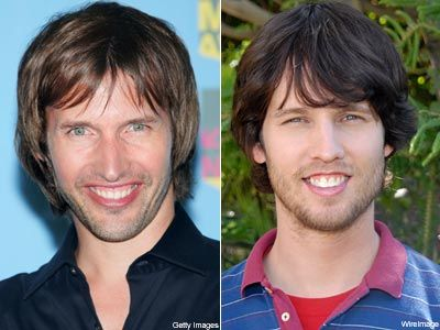 On the left, James Blunt. On the right, 'Napoleon Dynamite' himself, John Heder.  Do you think they look alike?